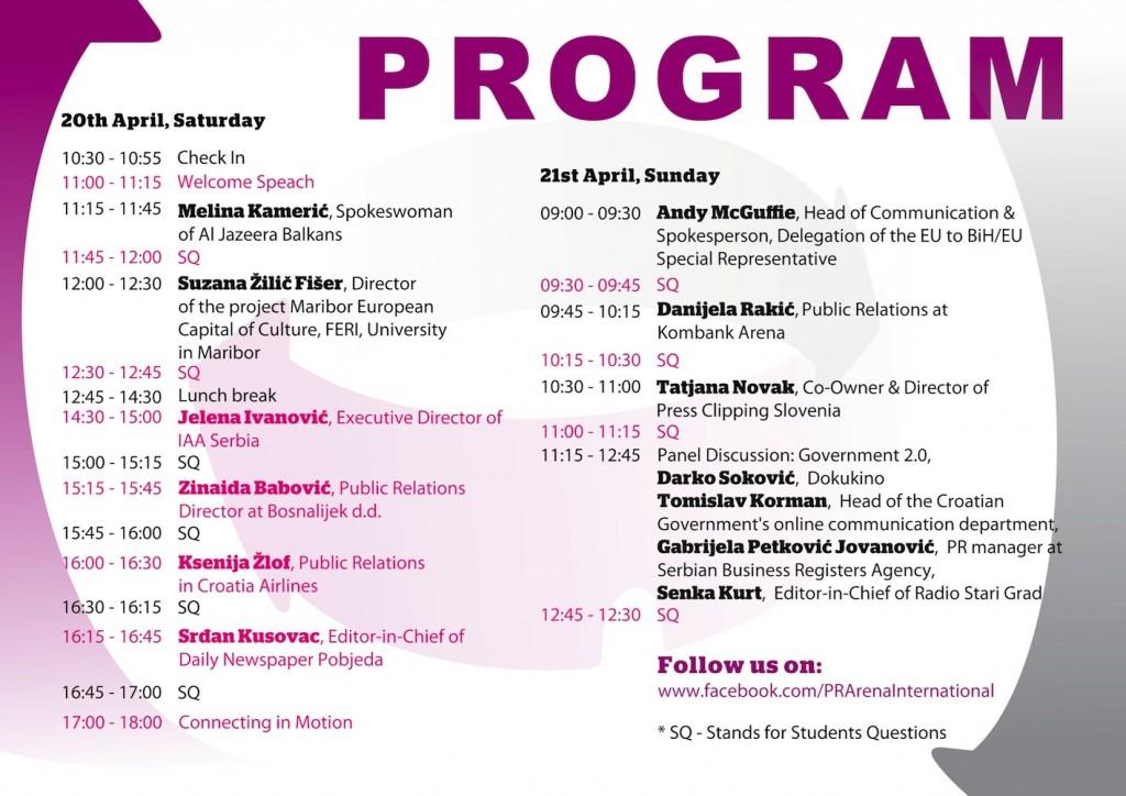Program PR ARENA