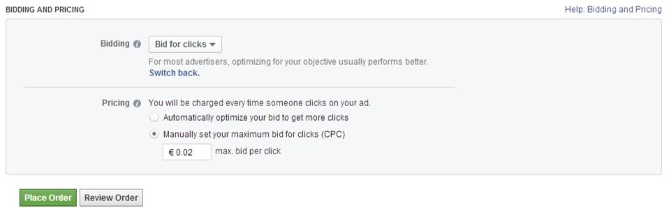 Facebook oglašavanje: Cena po kliku