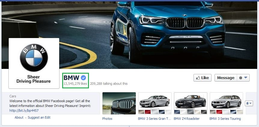 BMW Facebook Verified