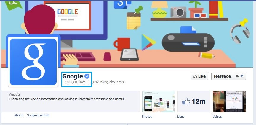 Google Facebook Verified