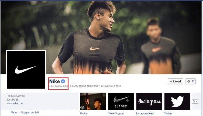 Nike Facebook Verified