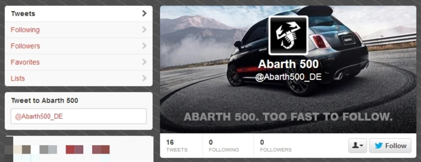 Fiat Abarth 500 No Follow