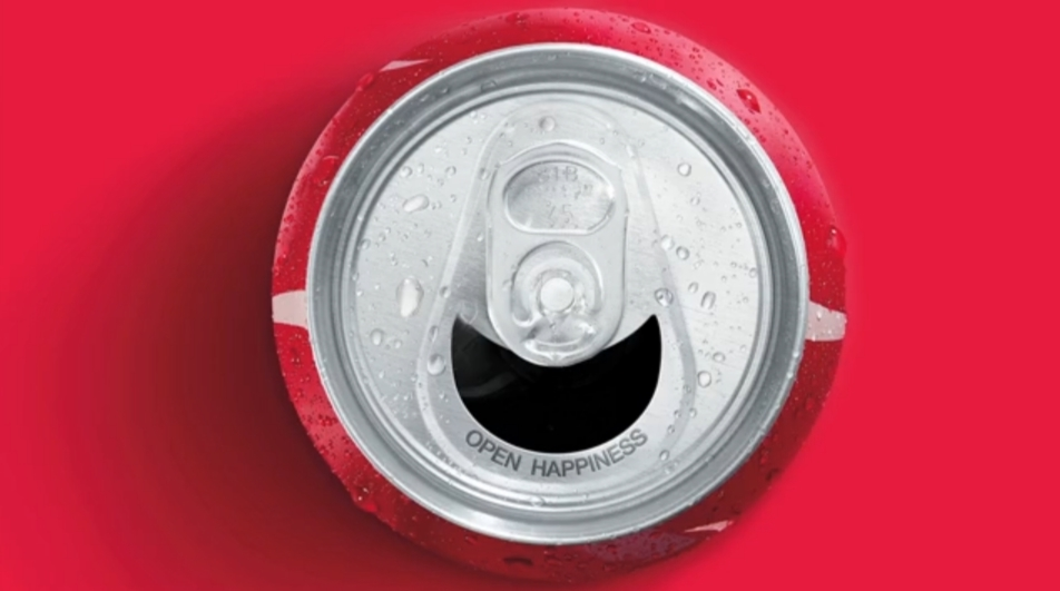 coca cola smile can