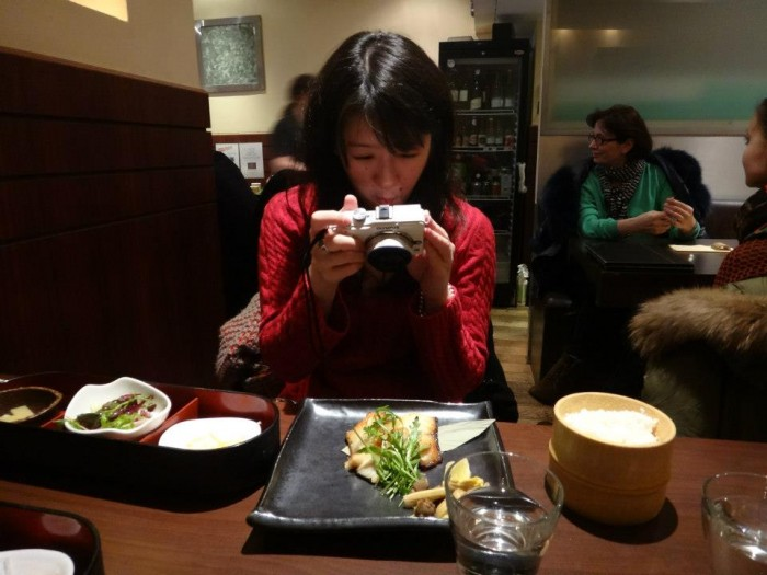 hipsters taking photo food