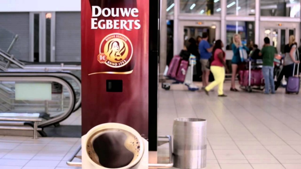 Douwe Egberts Bye Bye Red Eye yawn coffee machine