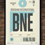 Flight Tag Print BNE