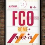 Flight Tag Print FCO
