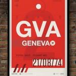 Flight Tag Print GVA