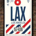 Flight Tag Print LAX