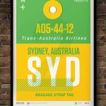 Flight Tag Print SYD