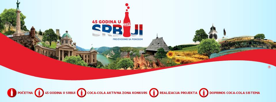 coca cola 45 godina u Srbiji