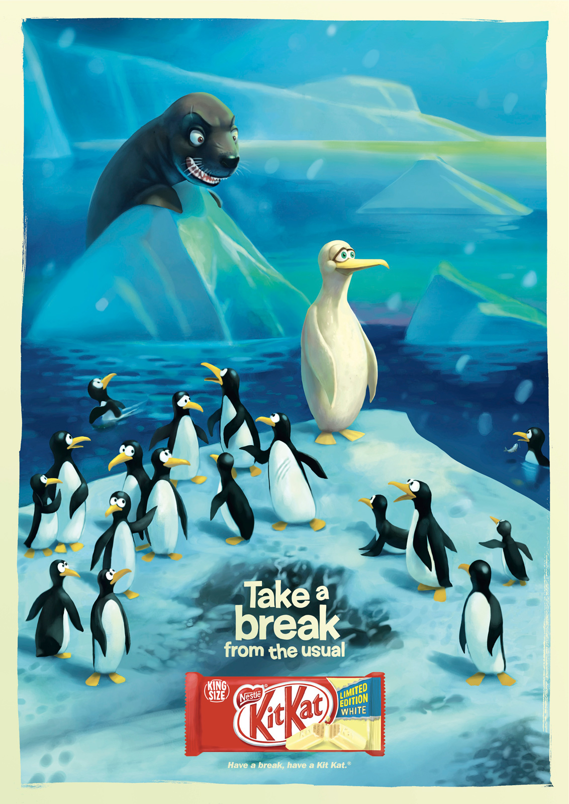 Kit Kat Take a break from the usual Penguin