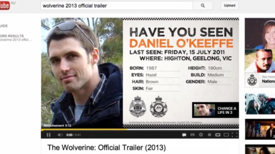 missing persons pre-roll australian federal police vlm