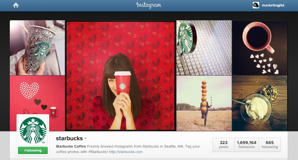 starbucks on Instagram