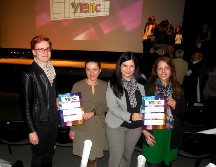 UEPS priznanje antikorupcija - Lidija Kujundzic, Ruza Radovic, Jasmina Krstic Latinovic, Maja Belamaric Fir