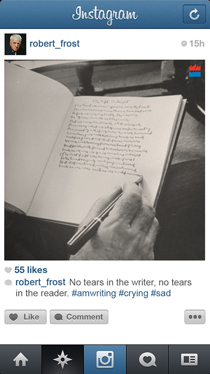 Robert Frost instagram