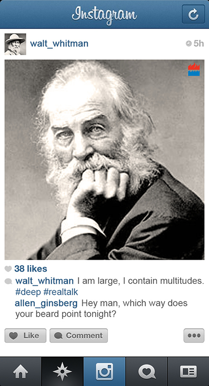 Walt Whitman instagram
