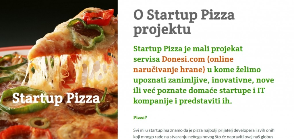 donesi startup pizza