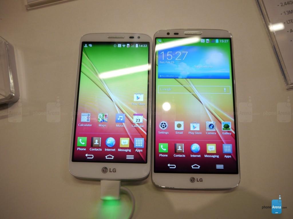 LG G2 mini pored LG G2 | Foto: phonearena.com