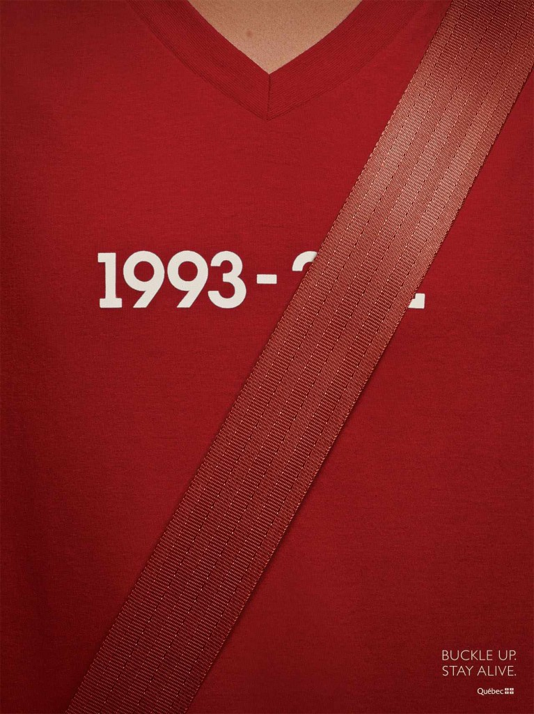buckle up stay alive red