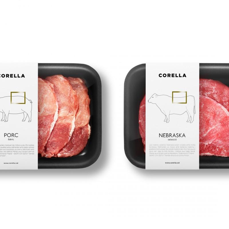 Pakovanje za meso koje pokazuje koji deo životinje ste kupili
