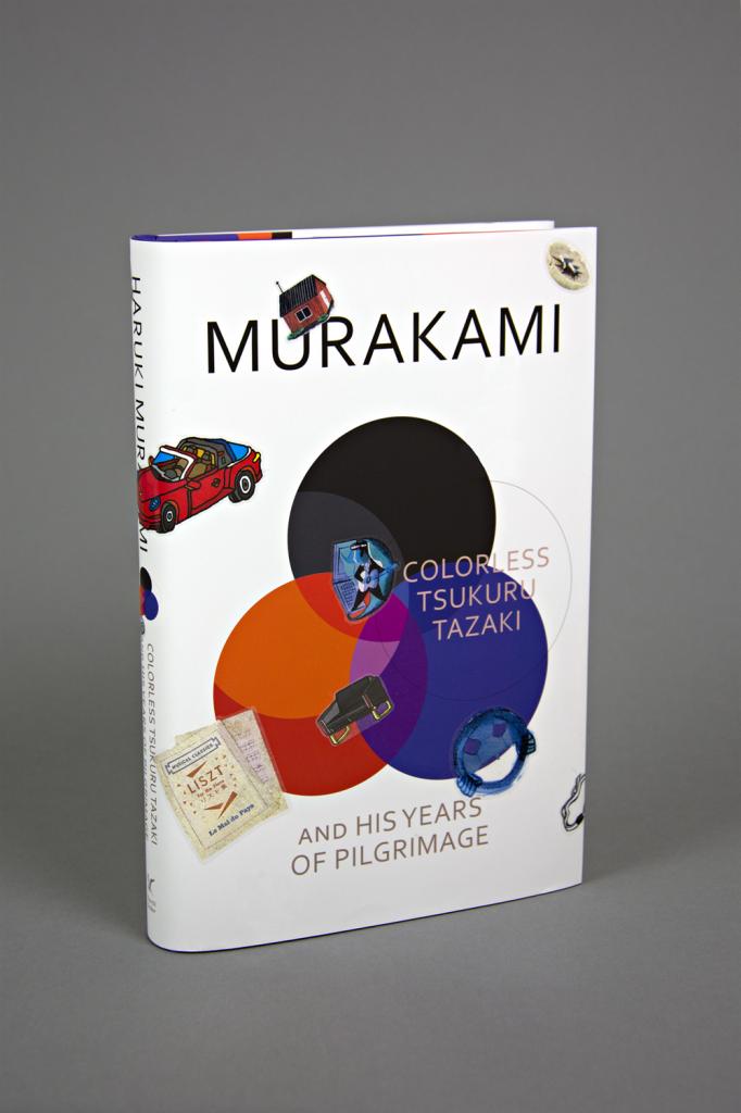 stickered book haruki murakami
