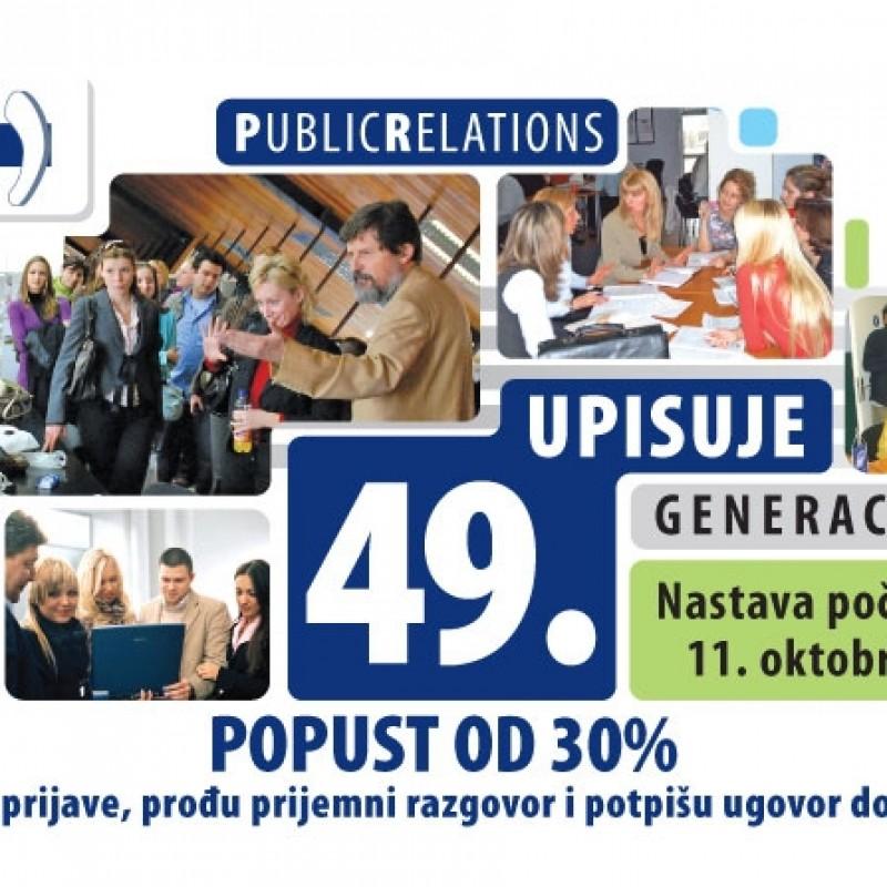 Poslovna škola za public relations upisuje novu generaciju polaznika