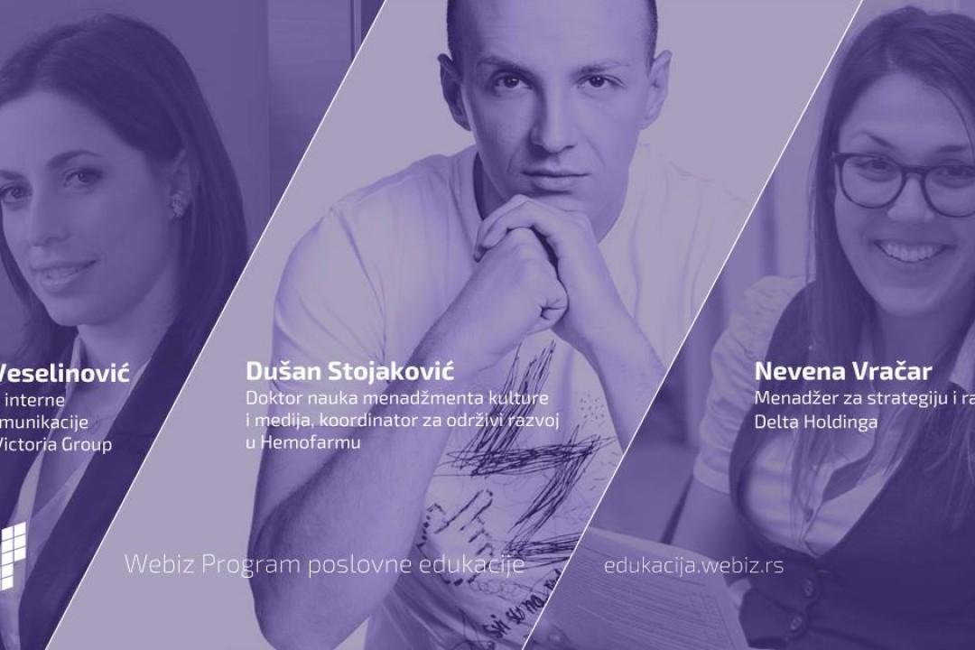 Predstavnici Hemofarma, Victoria grupe i Delta holdinga predavači na Webiz poslovnoj edukaciji