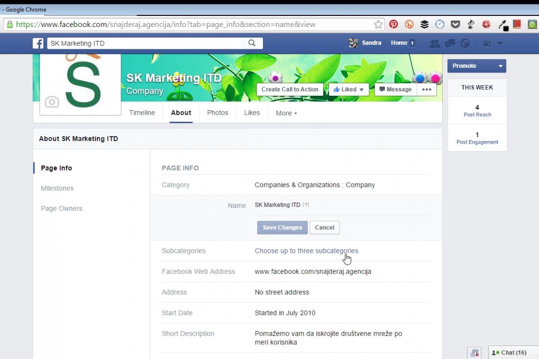 Facebook dozvolio promenu naziva stranice i sa više od 400 fanova?