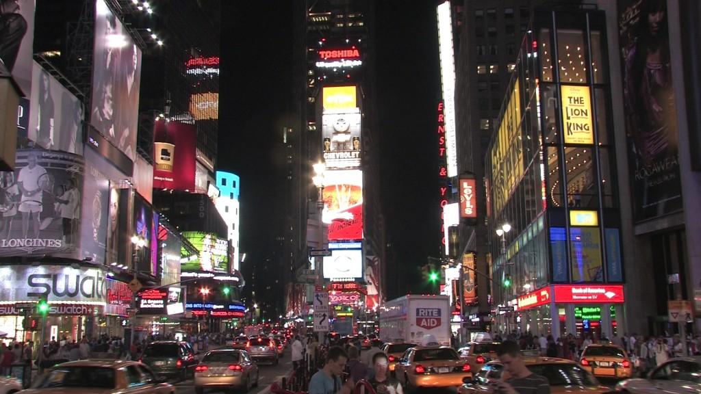 new york times square billboards lights