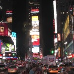 new york times square billboards lights