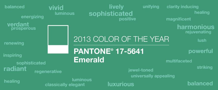 pantone emerald color 2013