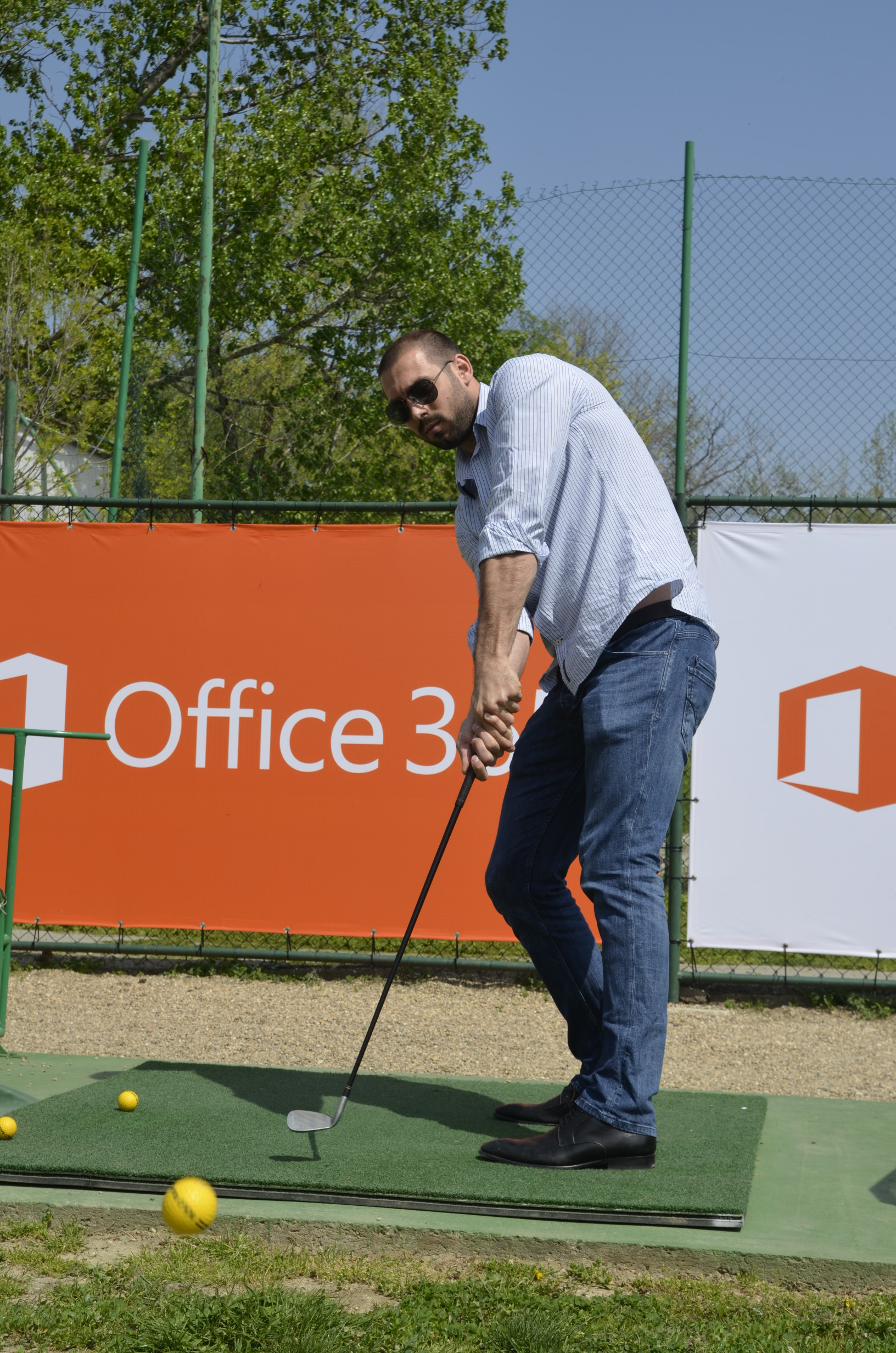 Milorad Čavić na terenima za golf 1