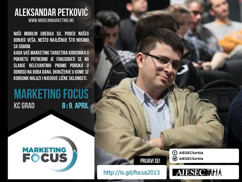 aleksandar petkovic marketing focus