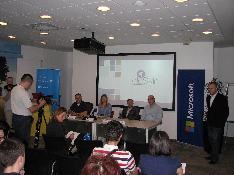 Siniša Perović . Microsoft Irina Simin TeleSkin prim dr Jadran Bandić i Željko Ratkaj TeleSkin