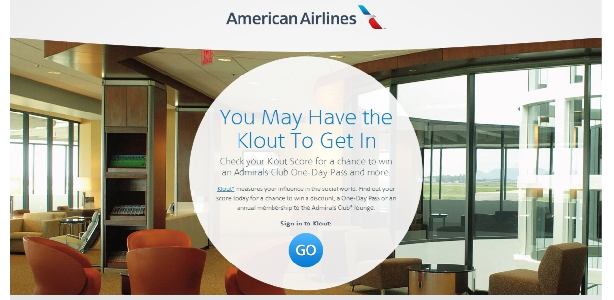 american airlines klout