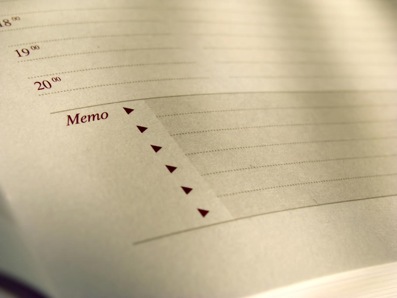 calendar planner memo