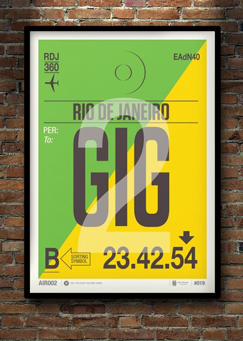 Flight Tag Print GIG