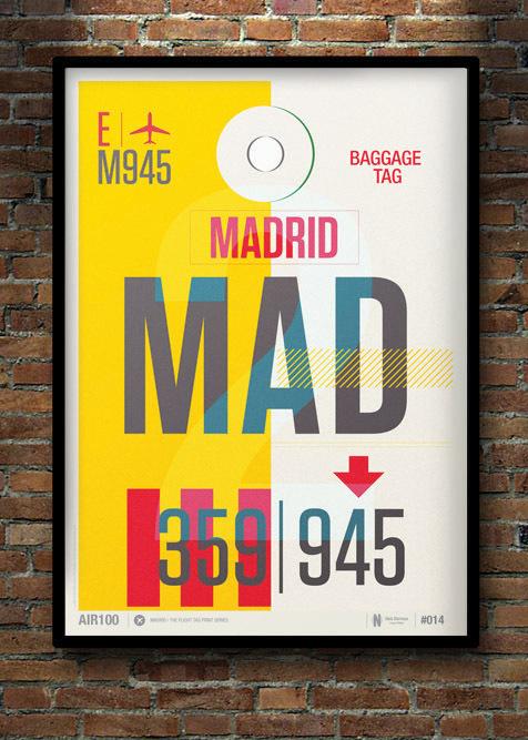 Flight Tag Print MAD