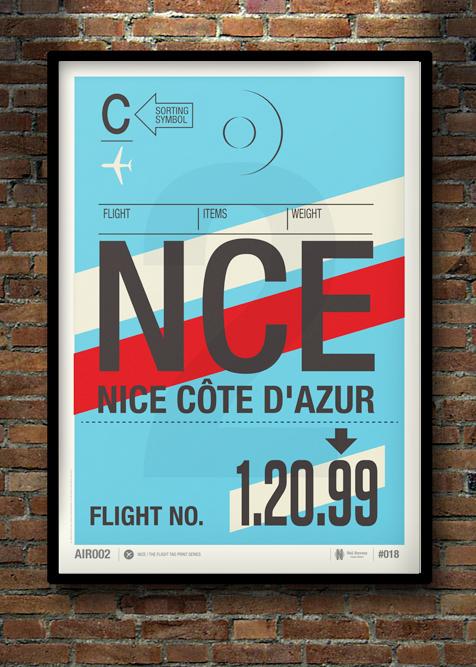 Flight Tag Print NCE