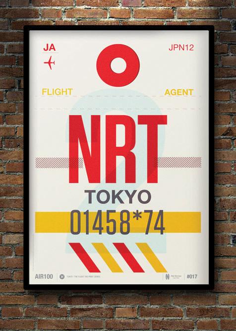 Flight Tag Print NRT