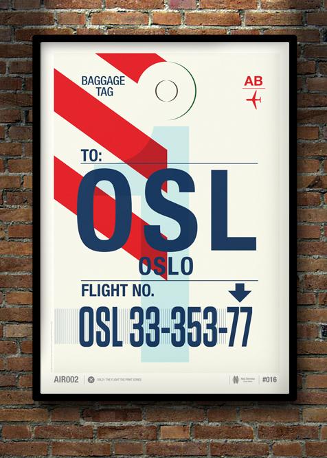 Flight Tag Print OSL