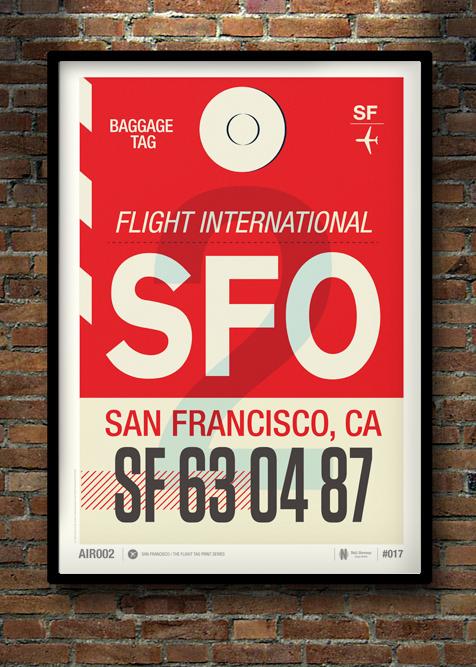 Flight Tag Print SFO