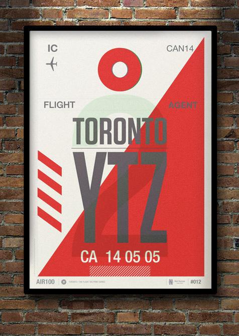 Flight Tag Print YTZ