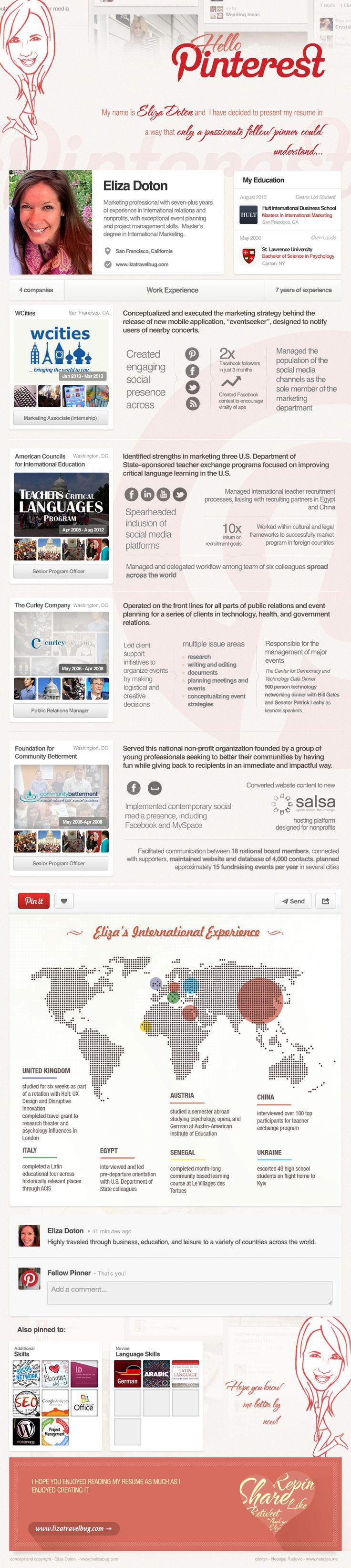 eliza doton pinterest infographic cv