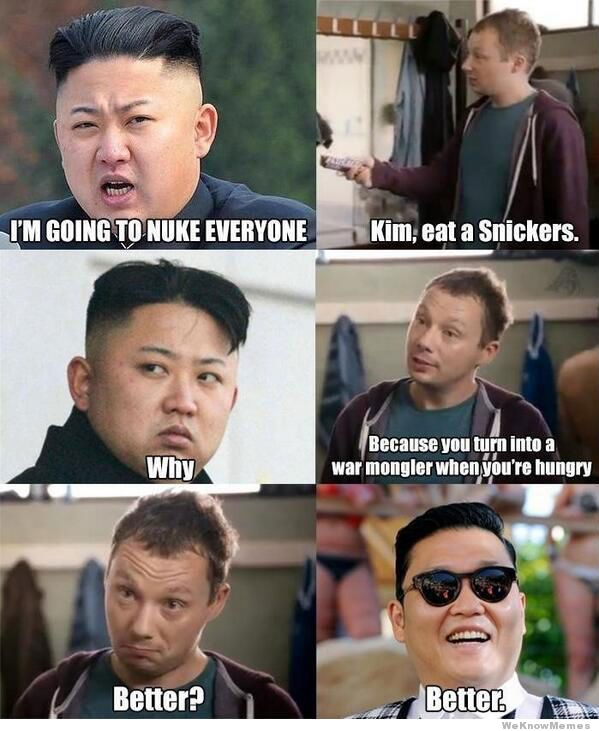 kim jong un eats a snickers
