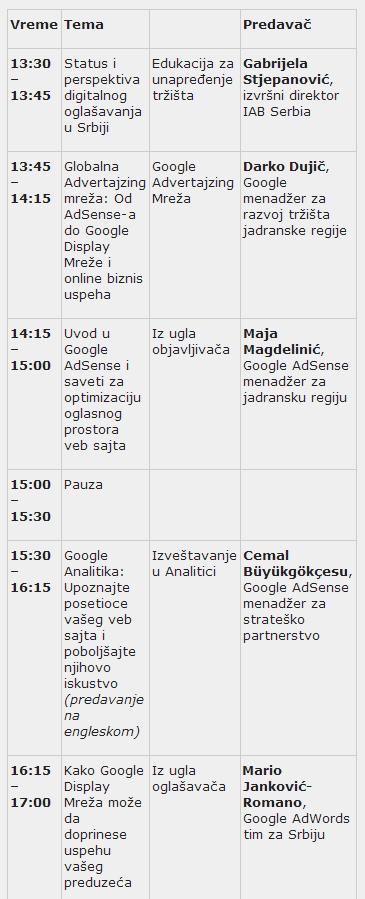 Google seminar     IAA   Serbian chapterIAA   Serbian chapter