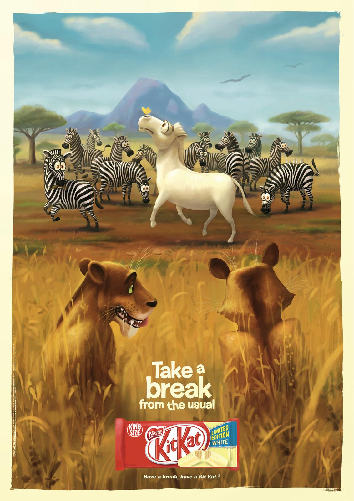 Kit Kat Take a break from the usual Zebra