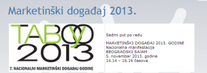 TABOO 2013 @ Svečana sala upravne zgrade Beogradskog sajma
