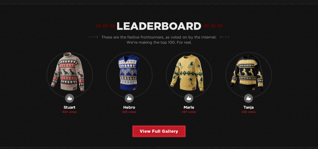 Coke Zero   Sweater Generator leaderboard